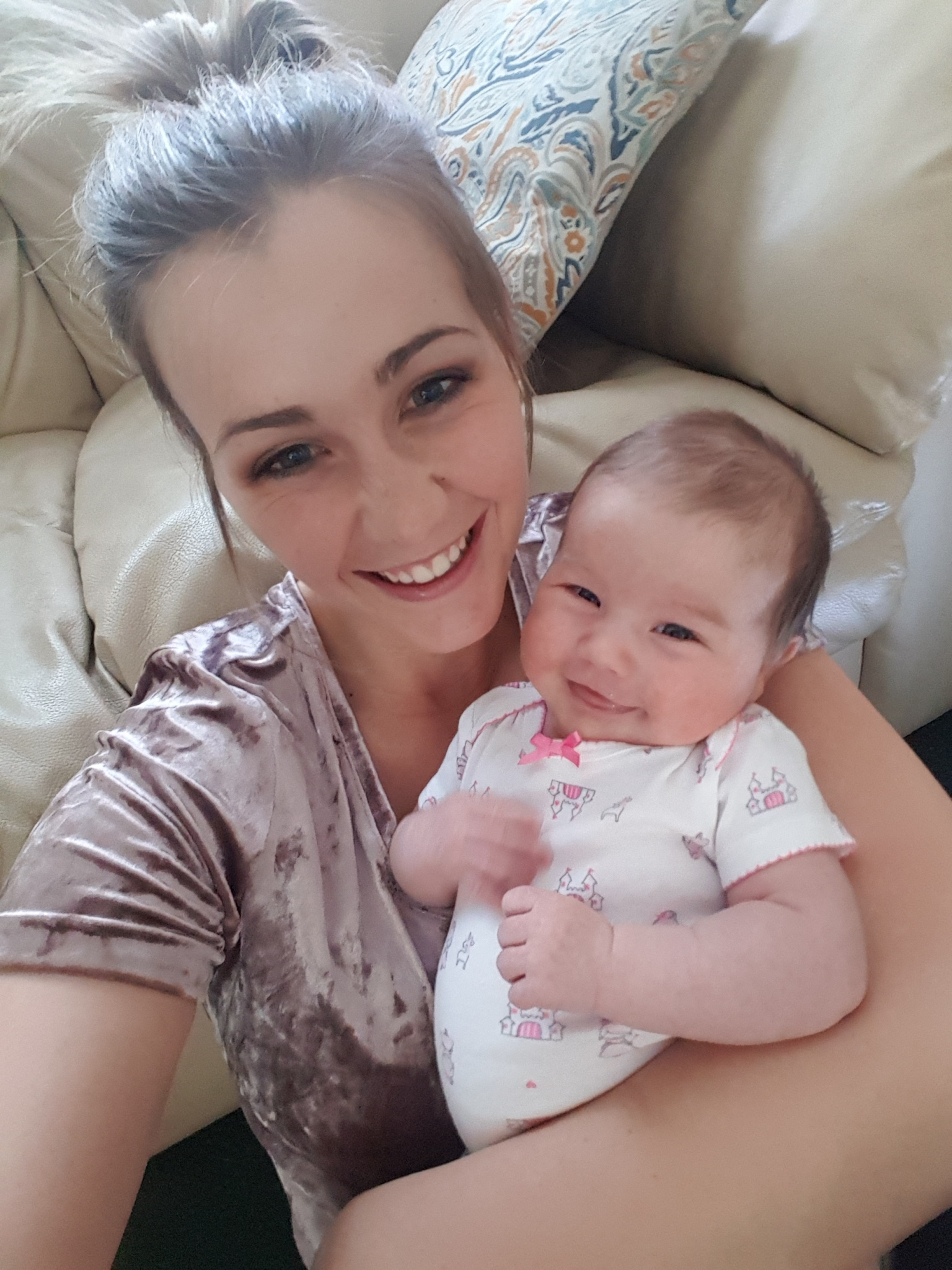woman and a baby